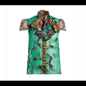 """Alice and Olivia """"Jeannie Bow Blouse"""""""